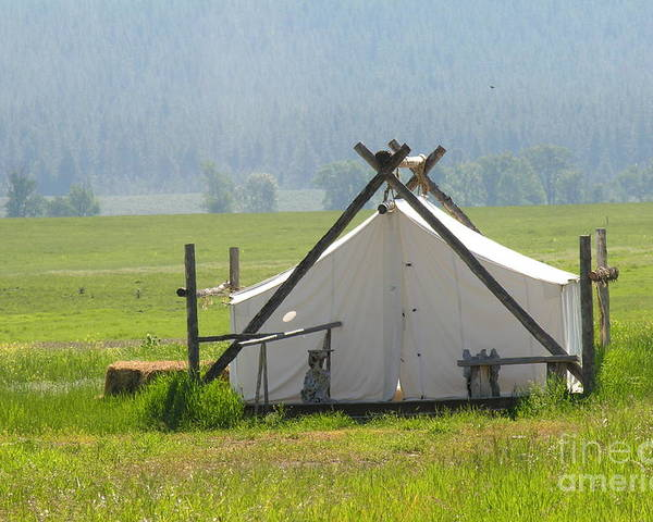 Montana Poster featuring the photograph Tent Living Montana 2010 by Diane Greco-Lesser