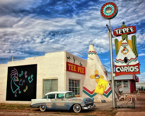 Poster featuring the photograph Tepee Curios Tucumcari by Diana Powell