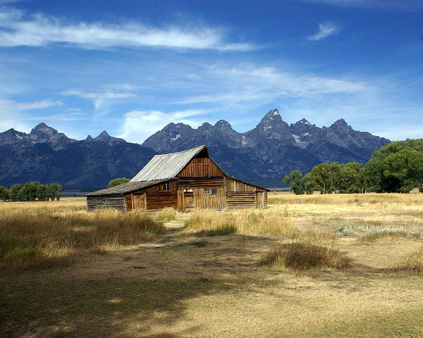 Grand Teton National Park Poster featuring the photograph Teton Barn 3 by Marty Koch