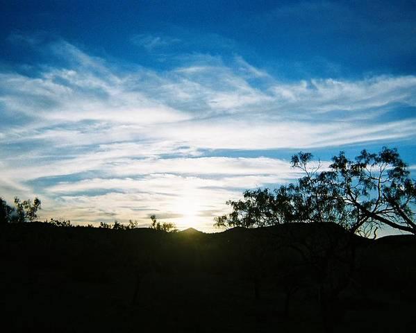 Blue Poster featuring the photograph Texas Big Blue Sky by Ana Villaronga