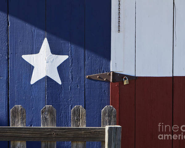 America Poster featuring the photograph Texas Flag Painted On A House by Jeremy Woodhouse