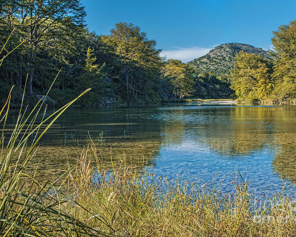 Texas Hill Country Poster featuring the photograph Texas Hill Country - The Frio River by Andre Babiak