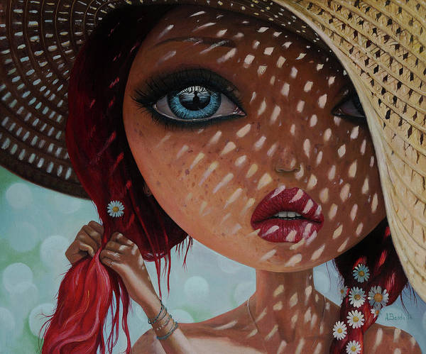 Girl Poster featuring the painting That Perfect Love I Never Had - Oil Painting by Adrian Borda