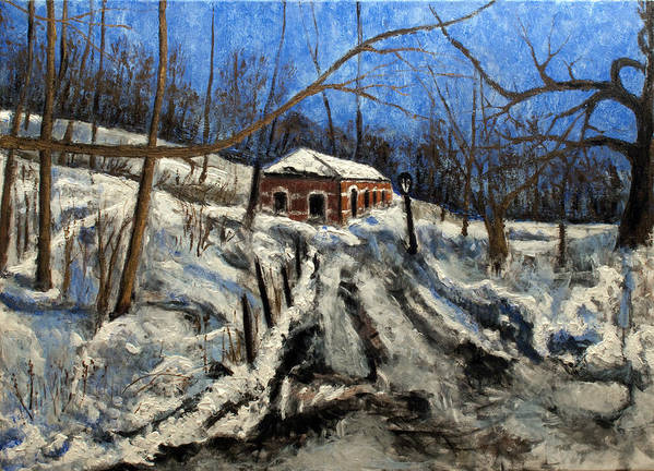Landscape Poster featuring the painting Thaw by Vladimir Kezerashvili