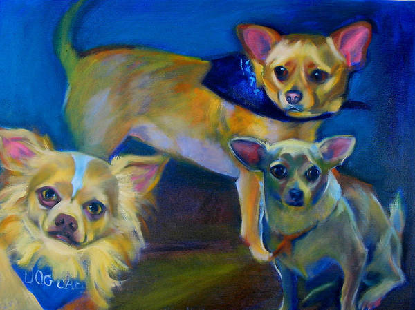 Chihuahua Painting Poster featuring the painting The 3 Stooges by Kaytee Esser