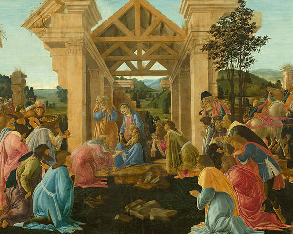 Sandro Botticelli Poster featuring the painting The Adoration Of The Magi by Sandro Botticelli