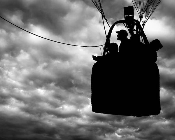 Silhouette Poster featuring the photograph The Adventure Begins Hot Air Balloon by Bob Orsillo