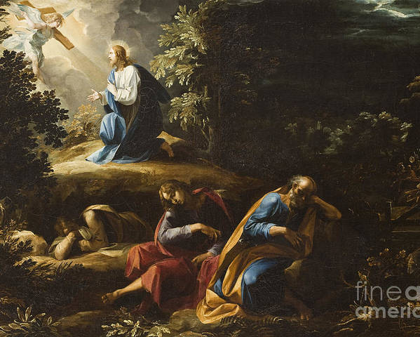 Gethsemane Poster featuring the painting The Agony In The Garden by Guiseppe Cesari