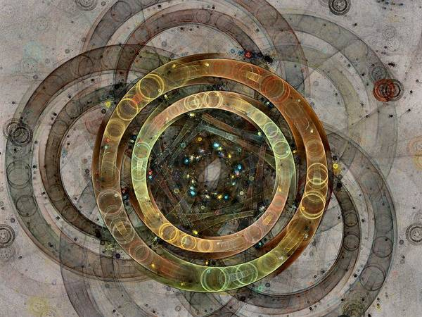 Circles Poster featuring the digital art The Almagest - Homage To Ptolemy - Fractal Art by NirvanaBlues