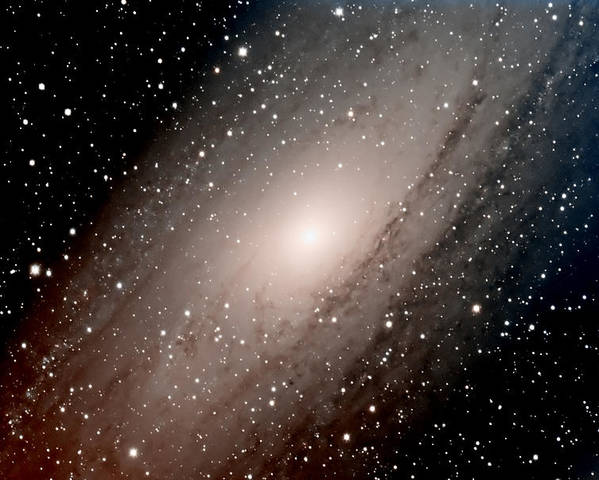 Star Poster featuring the photograph The Andromeda Galaxy Close Up by Jim DeLillo