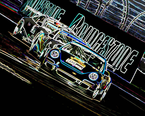 Porsche Poster featuring the digital art The Apex by Sebastian Musial