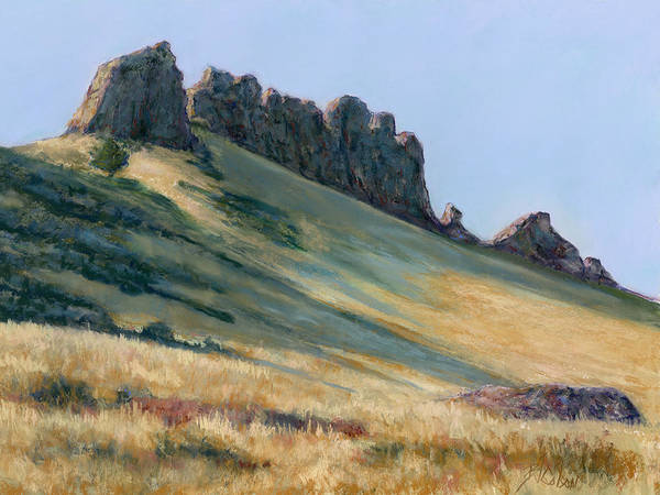 Loveland Colorado Landscape Poster featuring the painting The Backbone by Billie Colson