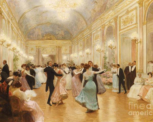 Ball Poster featuring the painting The Ball by Victor Gabriel Gilbert