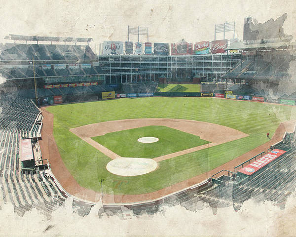 Texas Poster featuring the photograph The Ballpark by Ricky Barnard