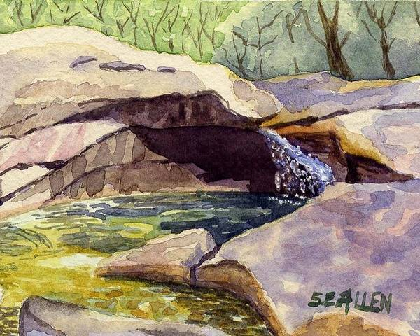 The Basin Poster featuring the painting The Basin by Sharon E Allen