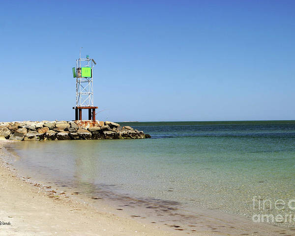 Jetty Poster featuring the photograph The Bass River Jetty South Yarmouth Cape Cod Massachusetts by Michelle Wiarda-Constantine