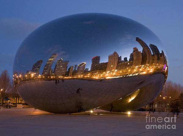 Reflection Poster featuring the photograph The Bean - Millenium Park - Chicago by Jim Wright