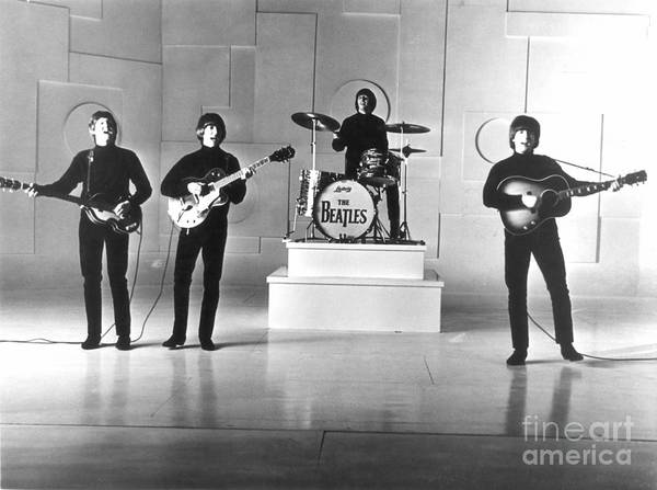 1965 Poster featuring the photograph The Beatles, 1965 by Granger