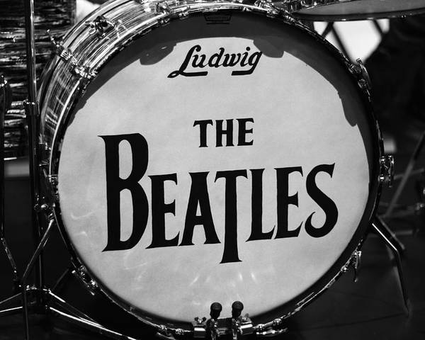 The Beatles Drum Poster featuring the photograph The Beatles Drum by Dan Sproul