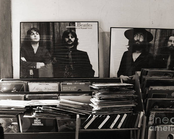 The Beatles Poster featuring the photograph The Beatles Yesterday by Anna Payne