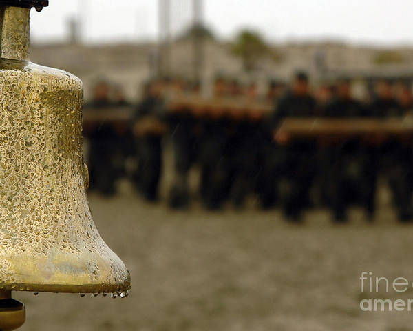 Single Object Poster featuring the photograph The Bell Is Present On The Beach by Stocktrek Images