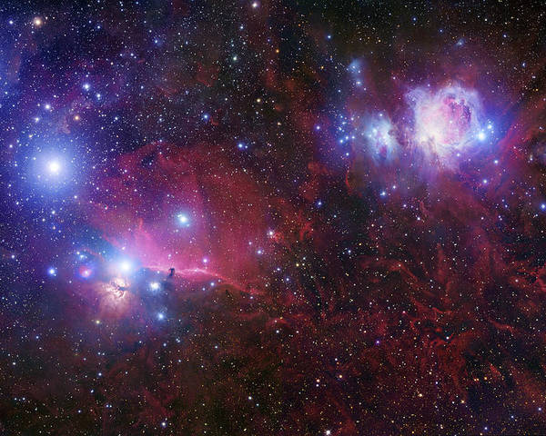 Alnilam Poster featuring the photograph The Belt Stars Of Orion by Robert Gendler