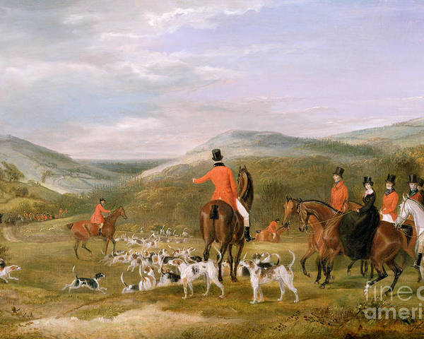 The Poster featuring the painting The Berkeley Hunt by Francis Calcraft Turner