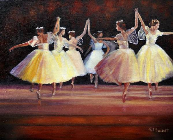 Ballet Dancing Poster featuring the painting The Berkshire Ballet by Valerie Bassett