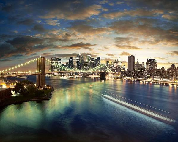 The Big Apple Poster featuring the photograph The Big Apple by Zarija Pavikevik