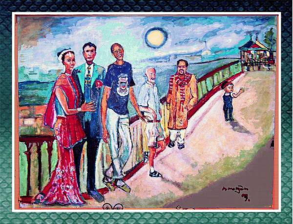 Diversity Poster featuring the painting The Billerica Portrait by Noredin morgan