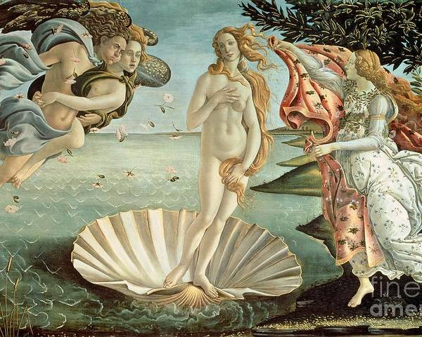 The Poster featuring the painting The Birth Of Venus by Sandro Botticelli