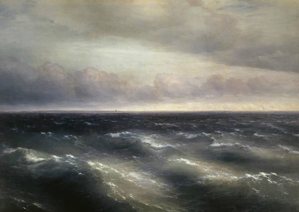 Ivan Aivazovsky Poster featuring the painting The Black Sea by Ivan Aivazovsky