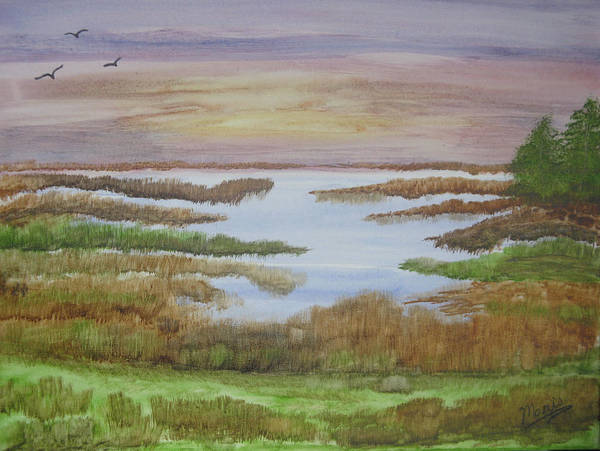 Landscape Poster featuring the painting The Boggy by Maris Sherwood