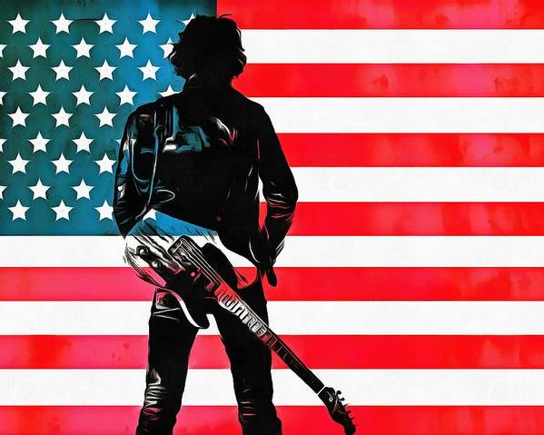Springsteen American Icon Poster featuring the digital art The Boss by Dan Sproul