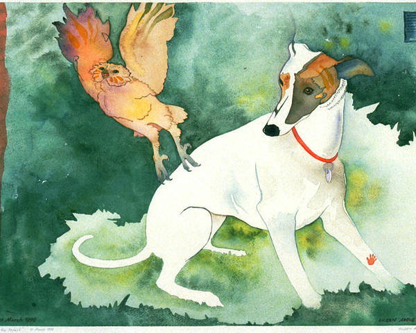 Watercolor Poster featuring the painting The Break In The Forest by Eileen Hale