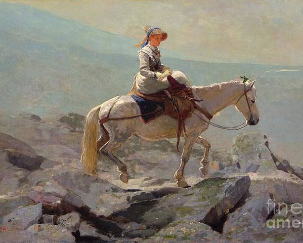 The Bridal Path Poster featuring the painting The Bridal Path by Winslow Homer