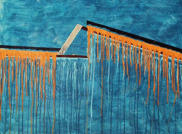 Abstract Poster featuring the painting The Bridge Of Hope by Ofelia Uz