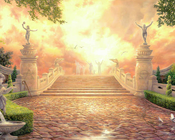 Heaven Poster featuring the painting The Bridge Of Triumph by Chuck Pinson