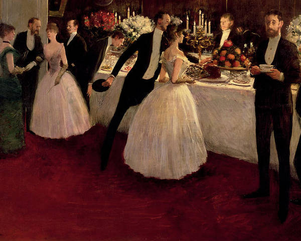The Buffet Poster featuring the painting The Buffet by Jean Louis Forain