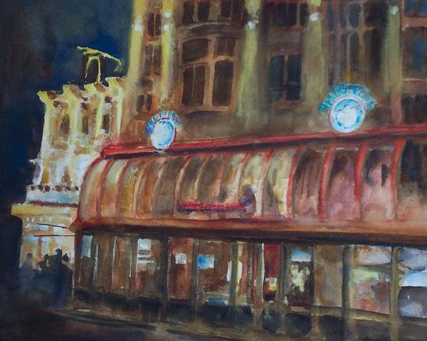 Resturant In Europe Poster featuring the painting The Bulldog by Bobby Walters