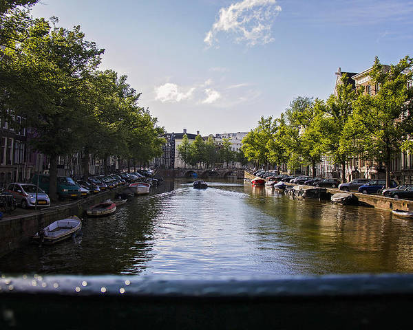 Amsterdam Poster featuring the photograph The Canal by Lauren Pfahlert