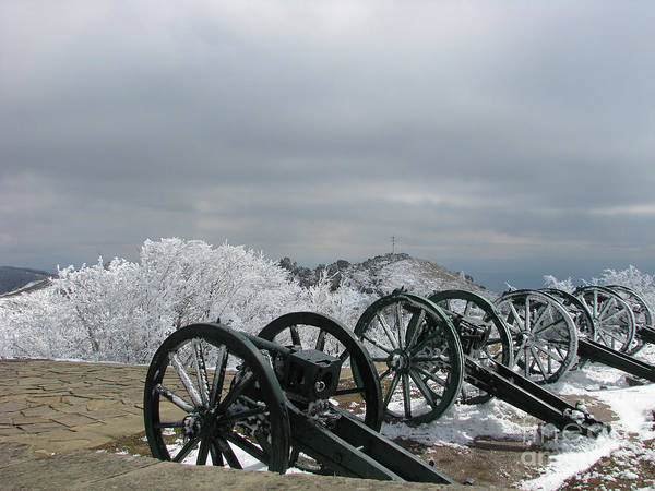 Cannon Poster featuring the photograph The Cannons At Shipka by Iglika Milcheva-Godfrey