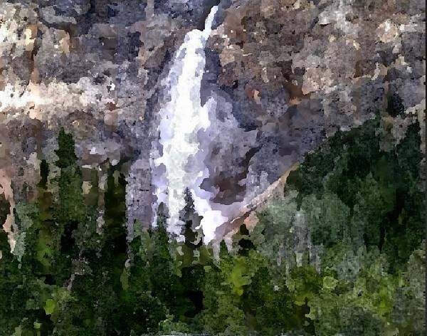 Rocky Mountains Poster featuring the digital art The Cascade by Don Berg