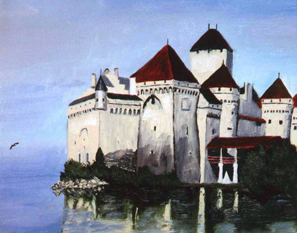 Castle Poster featuring the painting The Castle by Stan Hamilton