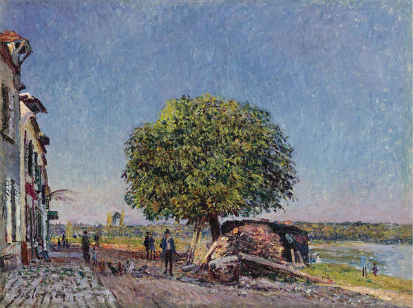 Alfred Sisley Poster featuring the painting The Chestnut Tree At Saint-mammes by Alfred Sisley