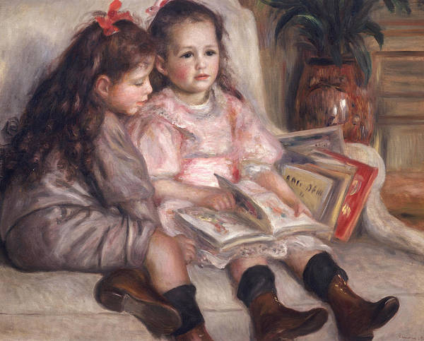 Portraits Of Children Poster featuring the painting The Children Of Martial Caillebotte by Pierre Auguste Renoir