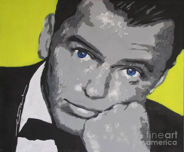 Frank Sinatra Poster featuring the painting The Chrysalid by Eric Dee