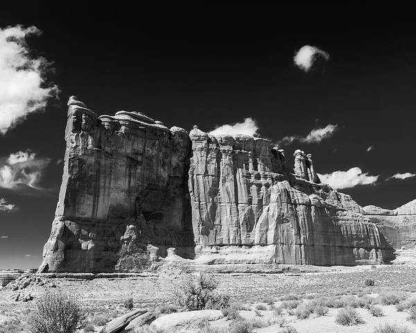 Arches National Park Poster featuring the photograph The Courthouse by Joseph Hawk