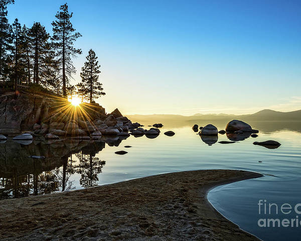 Sand Harbor Poster featuring the photograph The Cove At Sand Harbor by Jamie Pham