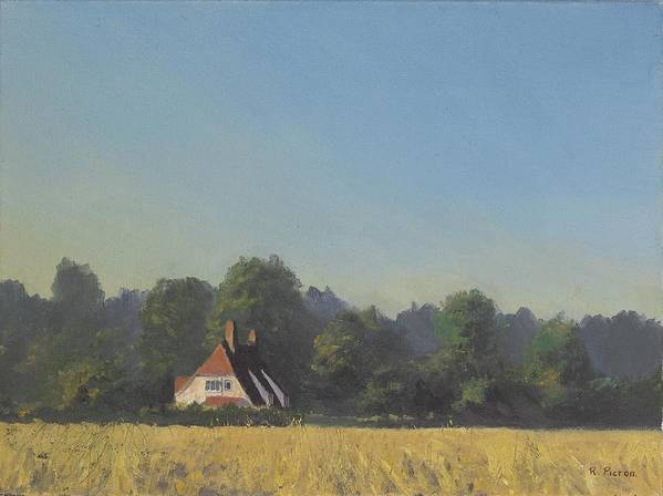 Landscape Trees Poster featuring the painting The Crooked Billet by Richard Picton